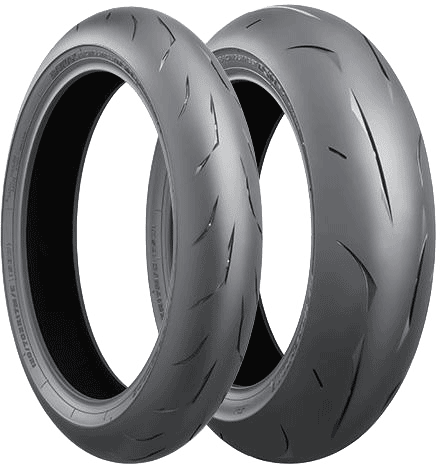 Bridgestone, RS10 H, Front Tyre, 110/70 R17 54H, RS10 Battlax Racing Street RS10 Bridgestone's latest premium high-grip radials that achieve excellent dry handling, grip and stability. The least groo