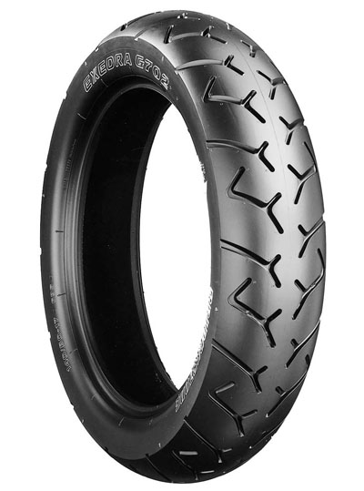 Bridgestone, G702 VN1500 , Rear Tyre, 150/80 B16 M/C 71H, EXEDRA BIAS PLY Original equipment tyres VN1500 Classic Tourer Designed primarily for American-type motorcycles, the Exedra 700 series provid