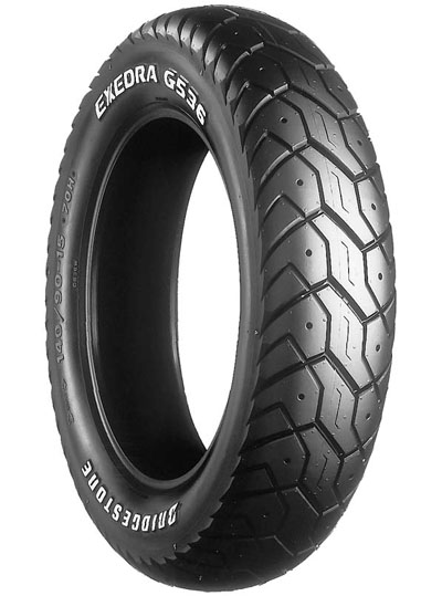 Bridgestone, G536, Rear Tyre, 140/90-15 M/C 70H, EXEDRA BIAS PLY Original equipment tyres CROSSPLY ORIGINAL EQUIPMENT The Exedra range of tyres are original equipment or approved fitment options on a
