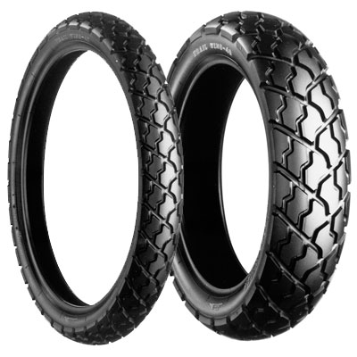 Bridgestone, TW47 G, Front Tyre, 90/90-21 M/C 54S, Trail wing On / Off road XV600V '96 on, XL650V on road / off road Good street properties Extremely low noise High mileage
