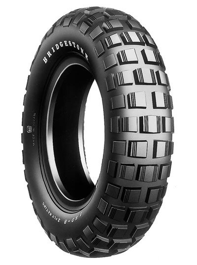 Bridgestone, TW02 Trail Wing 2 , Unidirectional Tyre, 3.50-8 35J, Scooter Tyres Z50 Trail Wing 2 Trail Wing 2 Experience the heavy-duty adventure City and off-road riders Enjoy riding freely on both