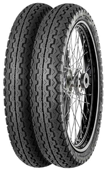 Continental, ContiCity, Unidirectional Tyre, 2.50 -17 43P, Conti City The ideal all-round and city tyre for lightweight and classic machines. Unique triangular pattern profile gives superb grip on th