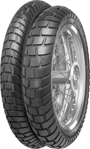 Continental, Conti_Escape, Front Tyre, 90/90-21 M/C 54S, Conti Escape A special tyre for riders who are equally at home on tarmac and off-road. All-round compound for a wide spectrum of weather and s