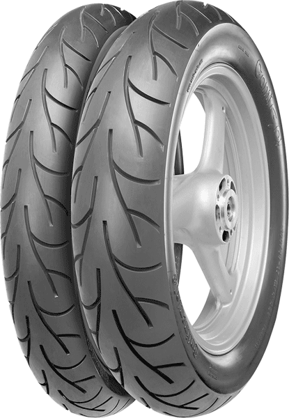 Continental, Conti-Go, Rear Tyre, 130/90-16 M/C 67V, ConitGo - Sports Mileage New developed cross-ply tyre for all-round use. • Perfect grip under all weather conditions for all-year-round use • Exce