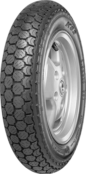 Continental, K62_Blackwall, Unidirectional Tyre, 3.00 -10 M/C 50J, K62 Blackwall - Classic Scooter The traditional tyre for rider seeking a retro look. • With the combination of segment and block pro