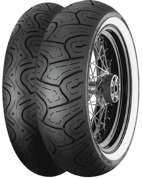 Continental, Legend WW FRONT, Front Tyre, MT90 B16 74H TL, Legend WW FRONT white walls Classic custom whitewall tire for cruisers and heavy touring bikes. A unique pattern design with whitewalls to s