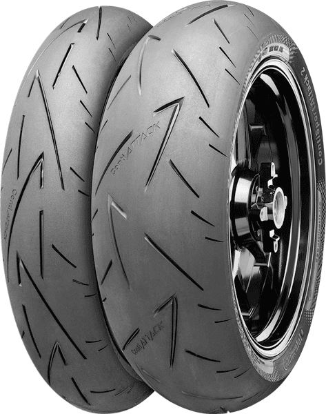 Continental, Sport_Attack_2, Front Tyre, 120/70 ZR17 58W , Sport_Attack_2 An advanced high performance Supersport tyre for street usage for Continental. Extraordinary light and precise handling with
