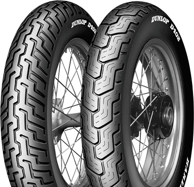 Dunlop, D402_Harley_Davidson, Rear Tyre, MT90 B16 74H, D402 Harley Davidson The D402 is the approved Harley-Davidson touring tire. Built with a three-ply polyester casing with two fiberglass belts, t