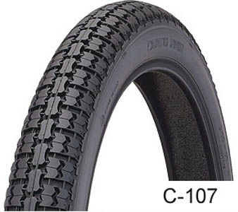 Economy, Cheng_Shin_C107, Unidirectional Tyre, 2.50 -17, ROAD TYRES 17inch A cheap Chinese road tyre.