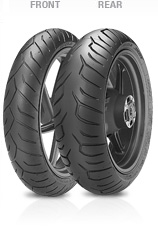 Pirelli, Diablo_Strada, Front Tyre, 110/80 ZR18 M/C 58W, Diablo Strada - Sporttouring Combined Front & Rear profile design for a neutral response in all riding conditions Functional Pattern design fo
