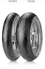 Pirelli, Diablo Supercorsa SC, Rear Tyre, 180/55 ZR17 M/C 73W, Diablo Supercorsa SC1 Soft Shoulder areas designed to maximize contact patch area and length Balanced elastic behaviour of carcass for s