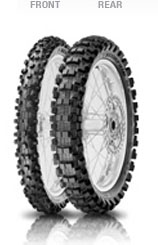 Pirelli, Scorpion MX Mid Hard 454, Rear Tyre, 100/90-19 57M NHS, Scorpion MX MID HARD 454 Excellent traction even on changing terrain conditions to get the maximum speed; Extreme grip and directional