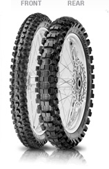Pirelli, Scorpion MX Hard 486, Rear Tyre, 100/90-19 57M NHS, Scorpion MX HARD 486 Maximum grip in starting and acceleration and cornering Extreme braking performance for a delayed corner entry even i