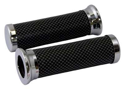 Carbon Look custom grips 22mm Left 25mm Right