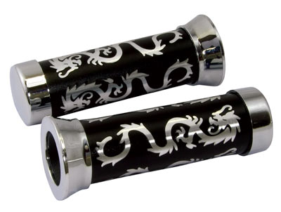 Custom Dragon grips 22mm Left 25mm Right