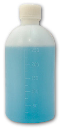 Graduated Measuring Bottle With Stopper & Cap 250m